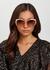 Oversized round frame sunglasses - Elie Saab