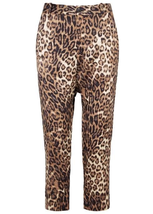 7e8175e5684b Nili Lotan Paris leopard-print silk trousers - Harvey Nichols