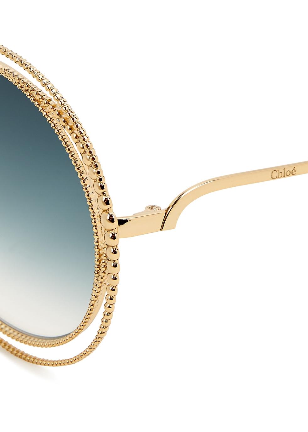 Carlina oversized round-frame sunglasses - Chloé