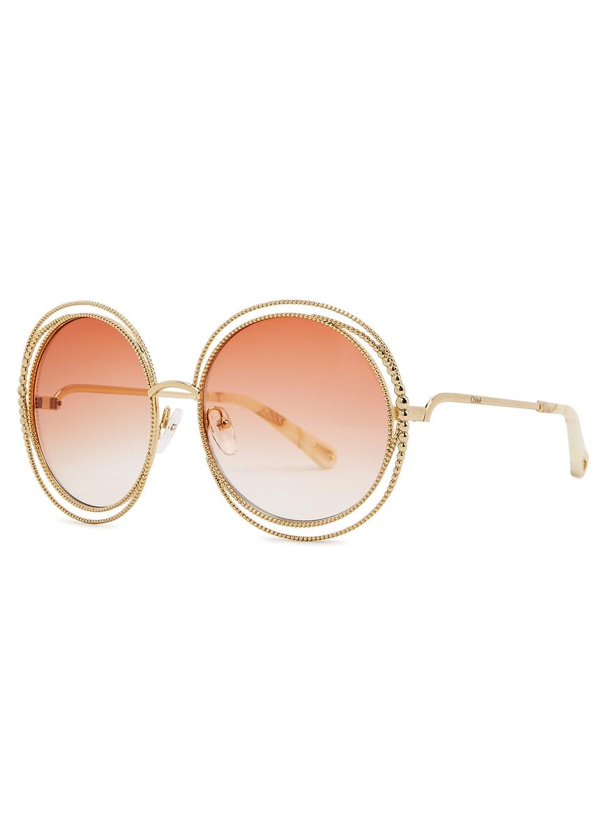 c0795437a6a Carlina oversized round-frame sunglasses. New Season. Chloé