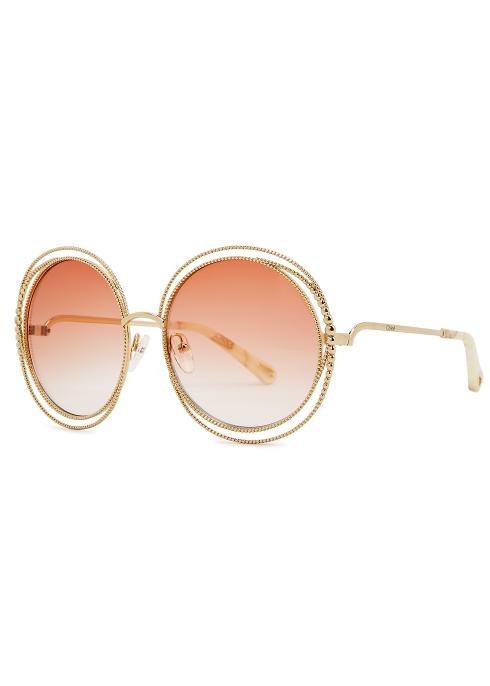 d3ca715e7f0 Chloé Carlina oversized round-frame sunglasses - Harvey Nichols