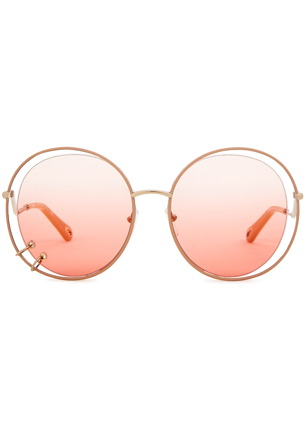 Gold-tone oversized sunglasses - Chloé