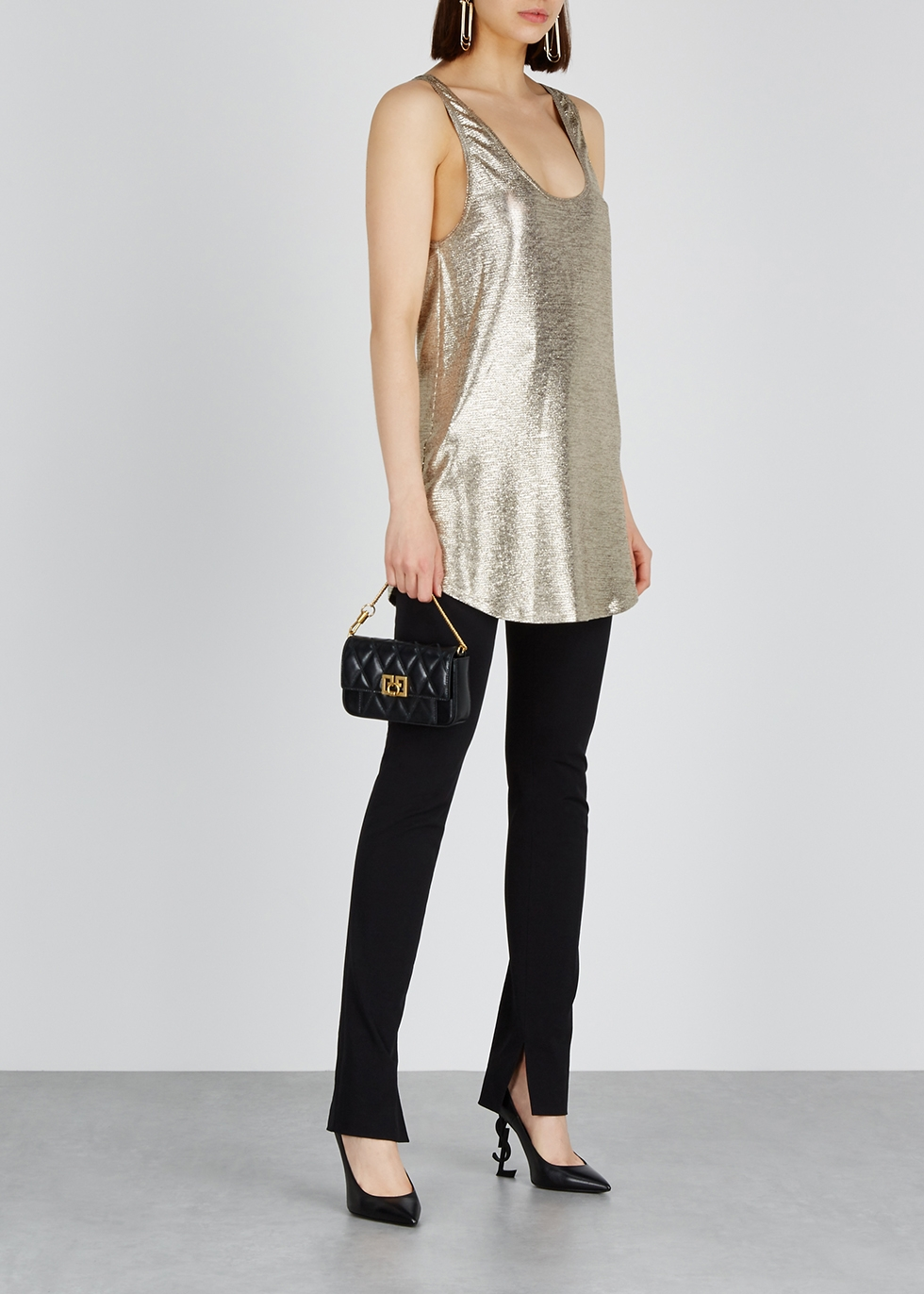 Silver coated-knit top - Balmain