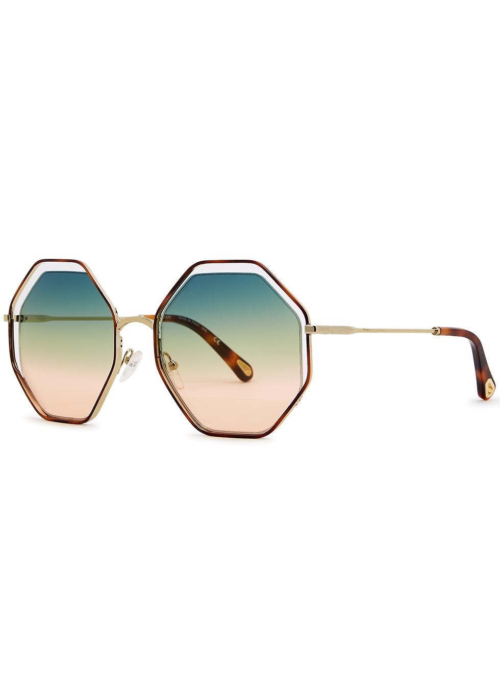 Poppy octagon-frame sunglasses - Chloé