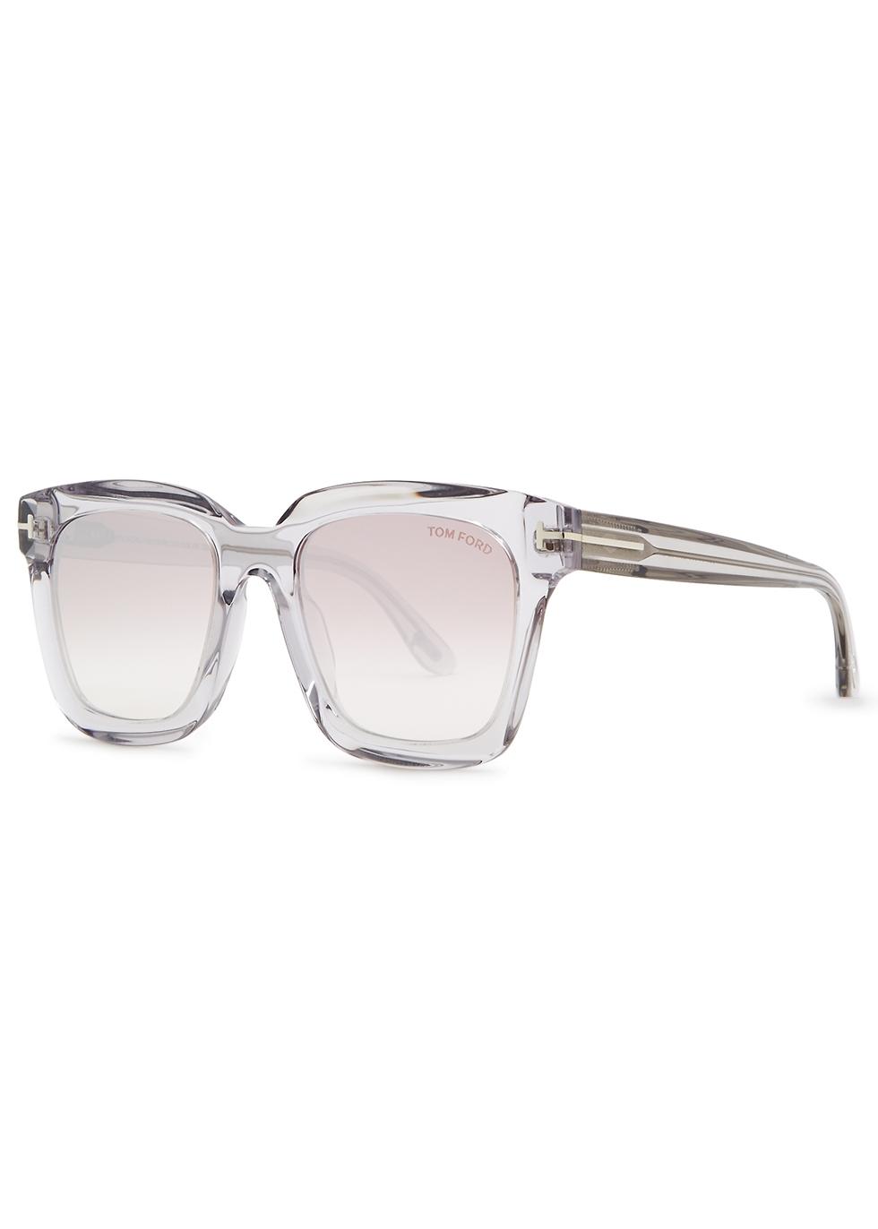 Sari transparent acetate square-frame sunglasses - Tom Ford Eyewear