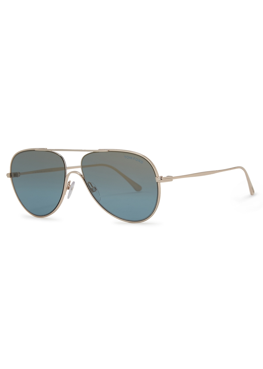 85bbb4212ec Silver-tone aviator-style sunglasses. New In. Tom Ford Eyewear