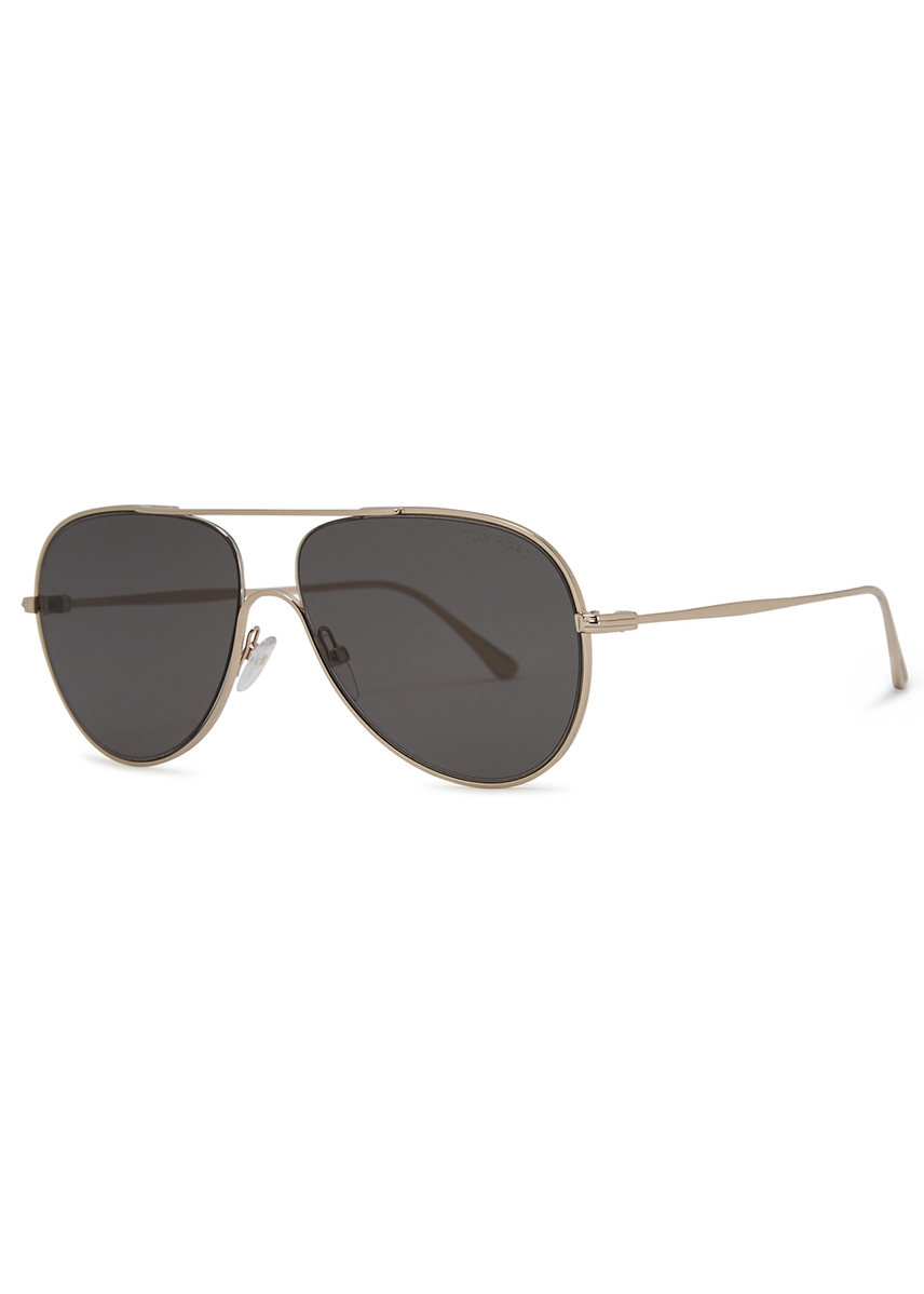add302e02fb3 Silver-tone aviator-style sunglasses. New In. Tom Ford Eyewear. Silver-tone  aviator-style sunglasses
