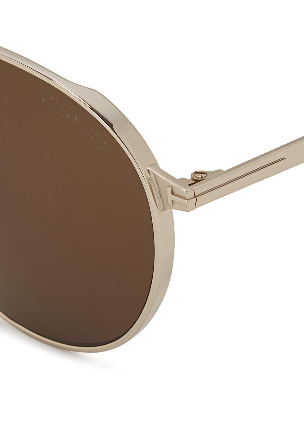 Silver-tone aviator-style sunglasses - Tom Ford Eyewear