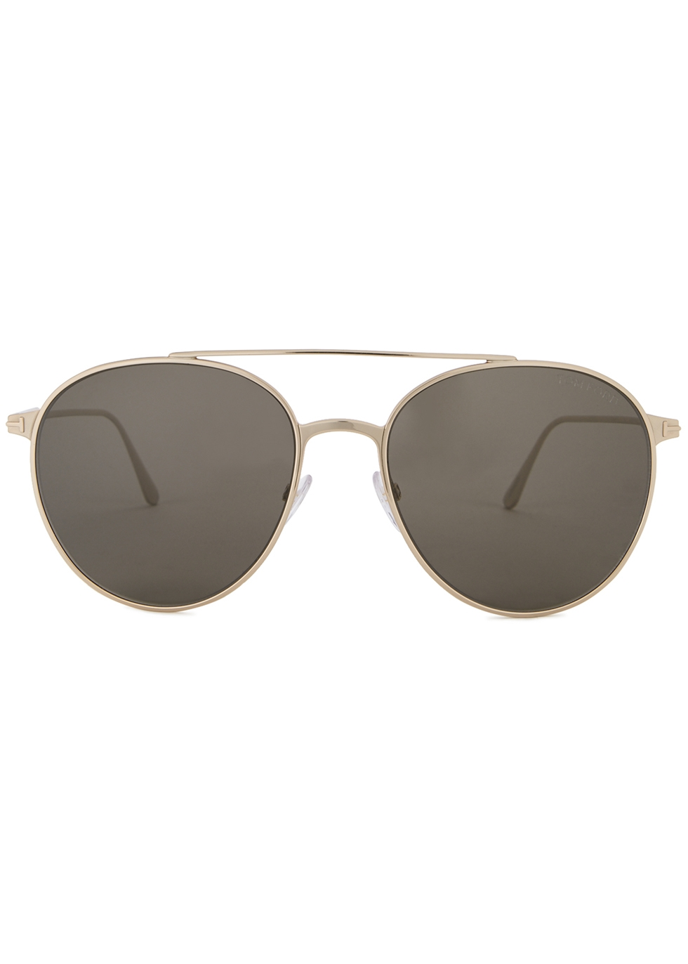 Rose gold-tone aviator-style sunglasses - Tom Ford Eyewear