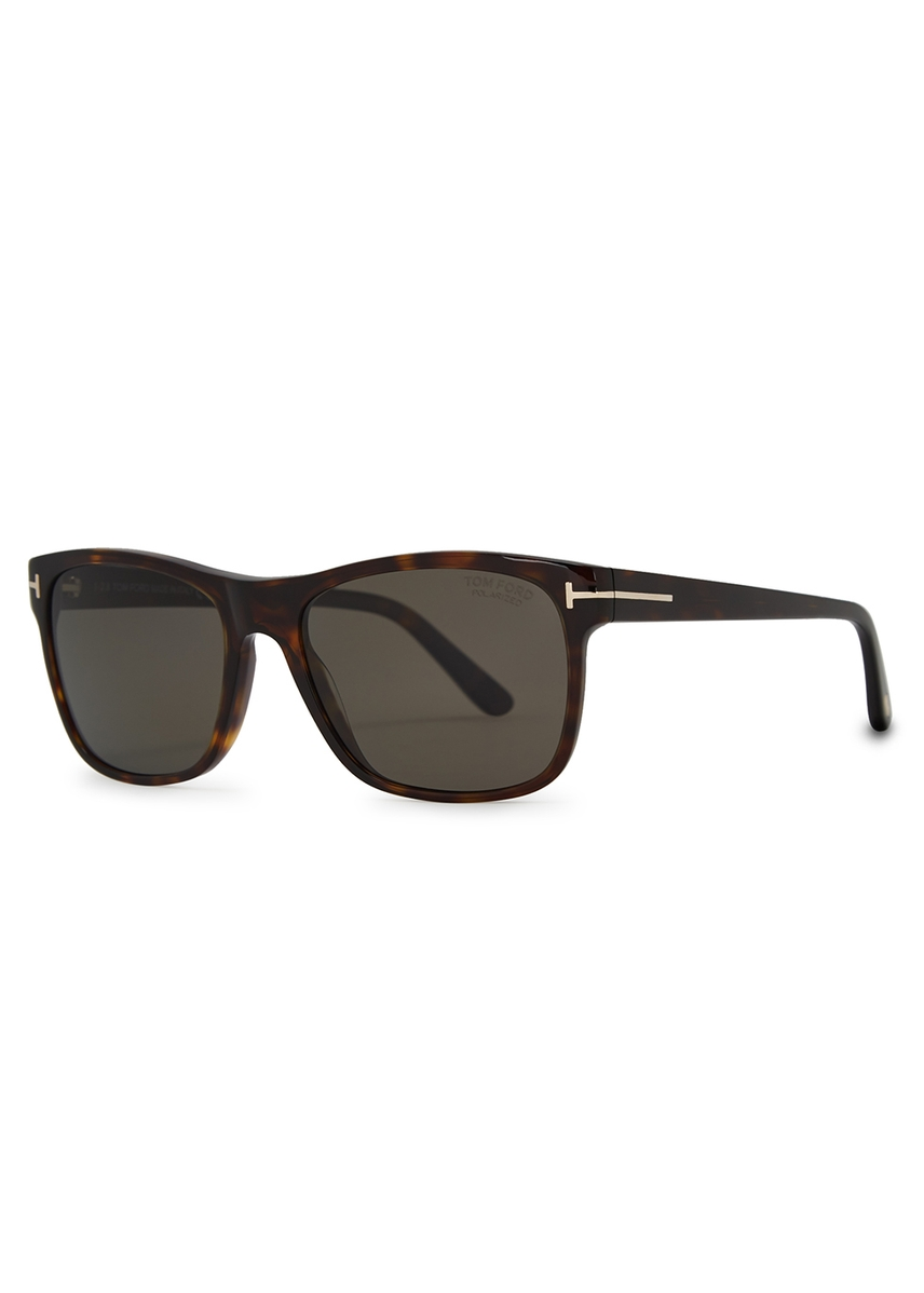 be9d109d34f2 Tortoiseshell wayfarer-style sunglasses. New In. Tom Ford Eyewear