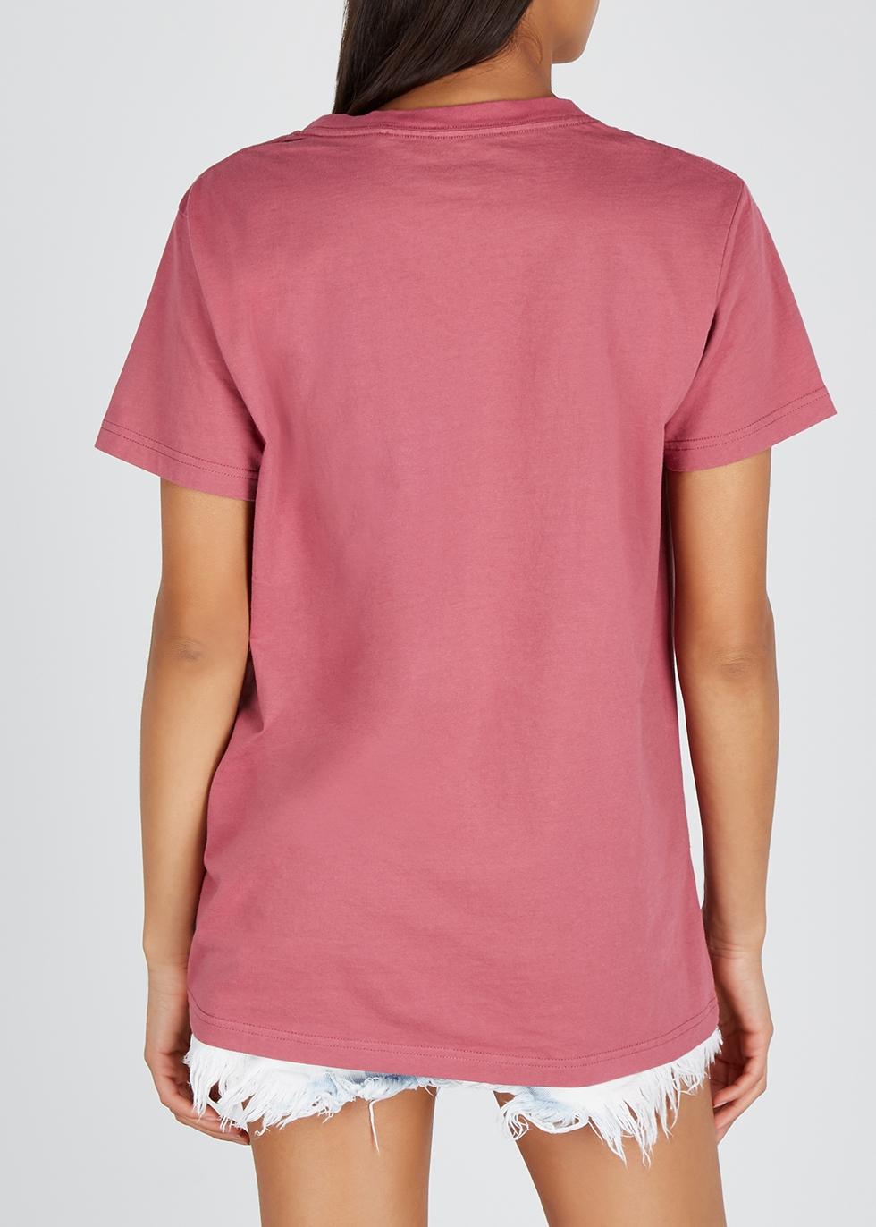Lost Moon pink cotton T-shirt - Oneteaspoon