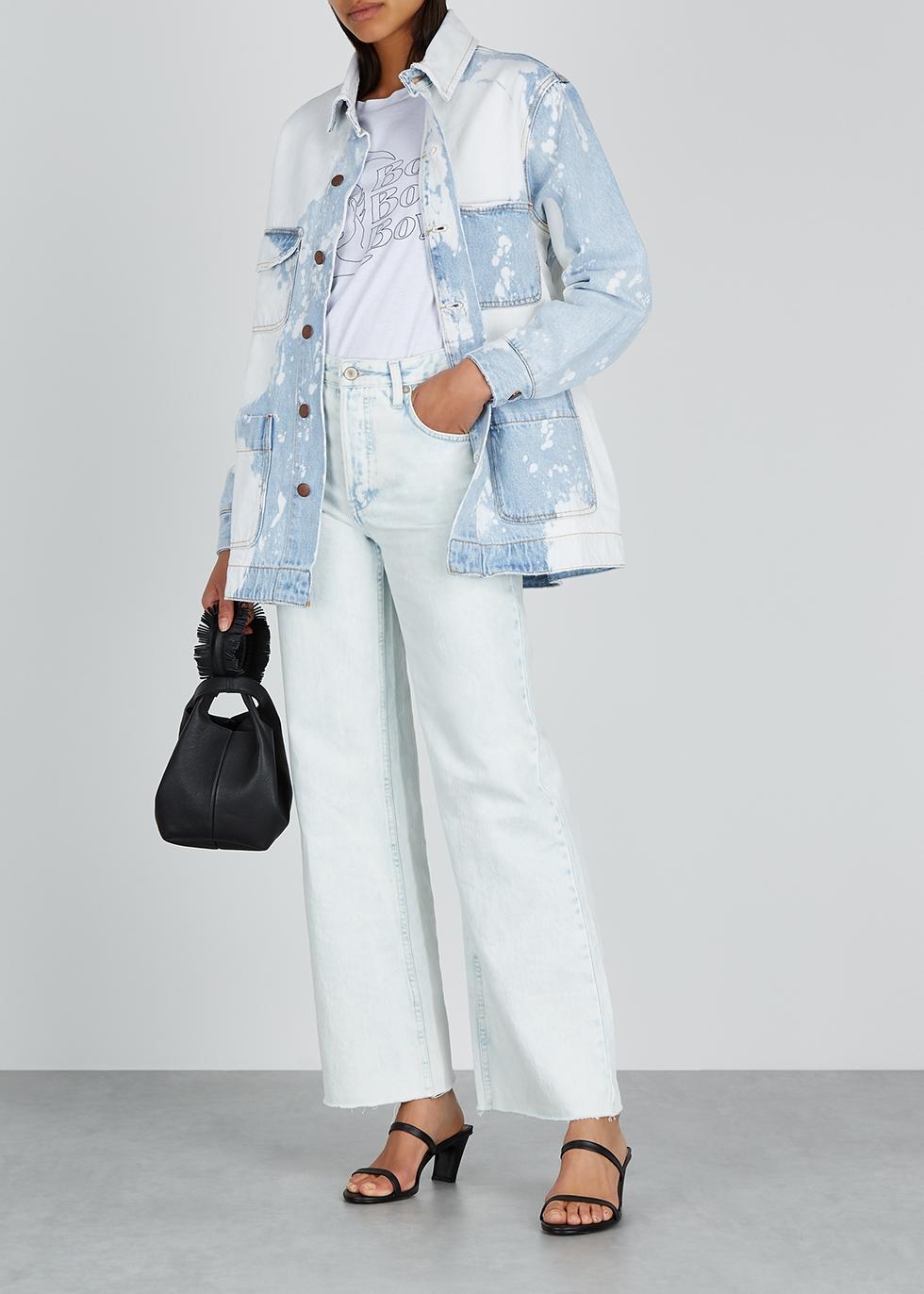 Light blue bleached denim jacket - Oneteaspoon