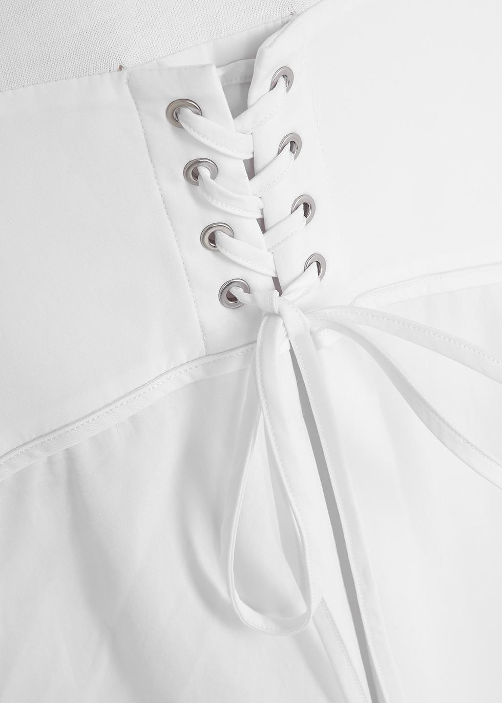 White corseted cotton T-shirt dress - 3.1 Phillip Lim