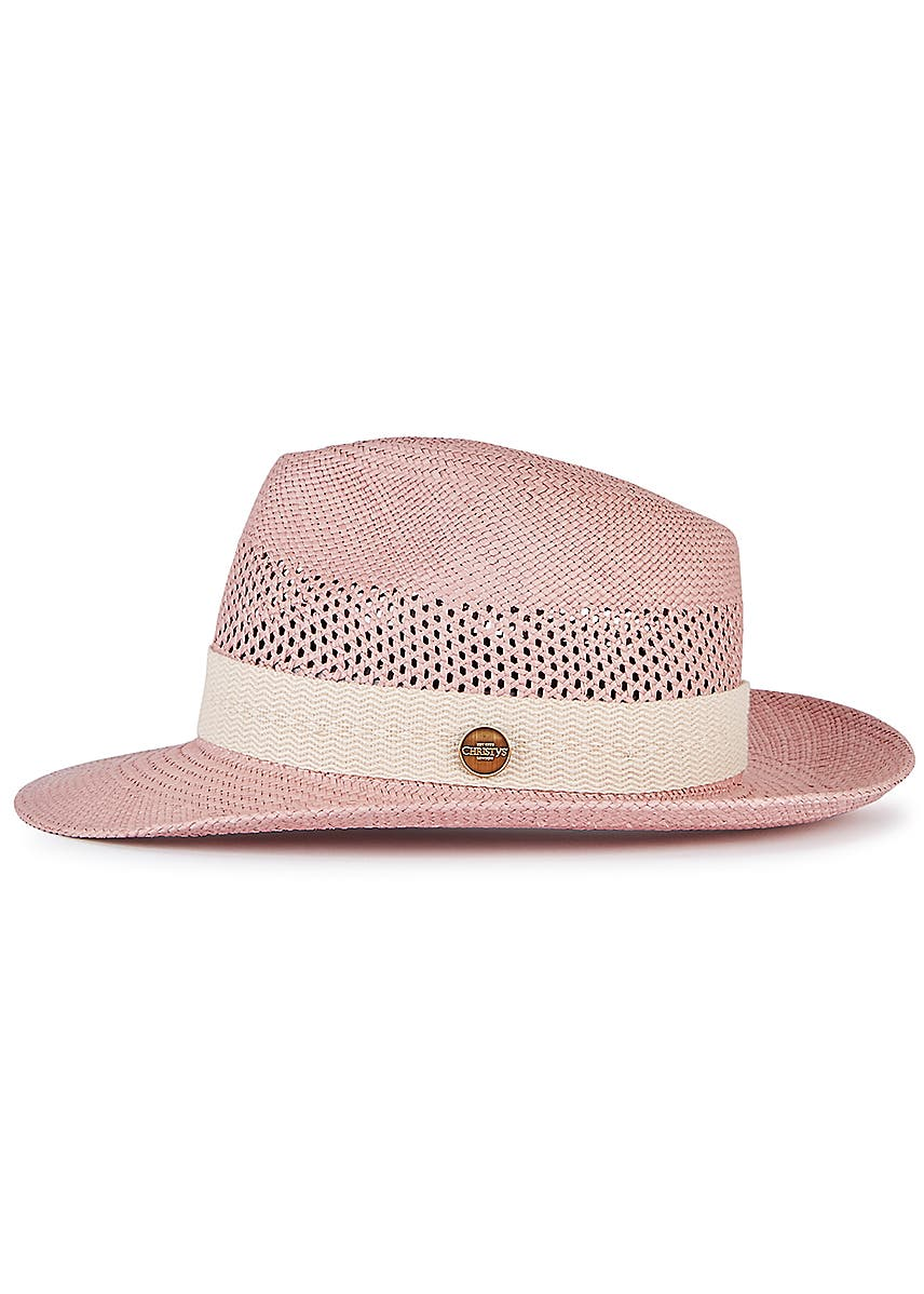 a9810e4ab9d2fb Frances pink straw panama hat. Christys' London
