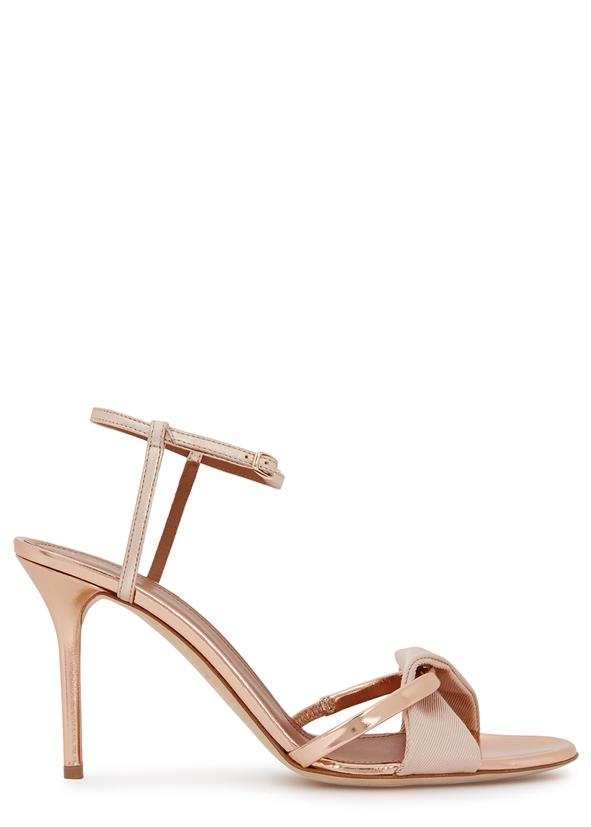 cdf81efbdc7 Terry Luwolt 85 rose gold leather sandals ...