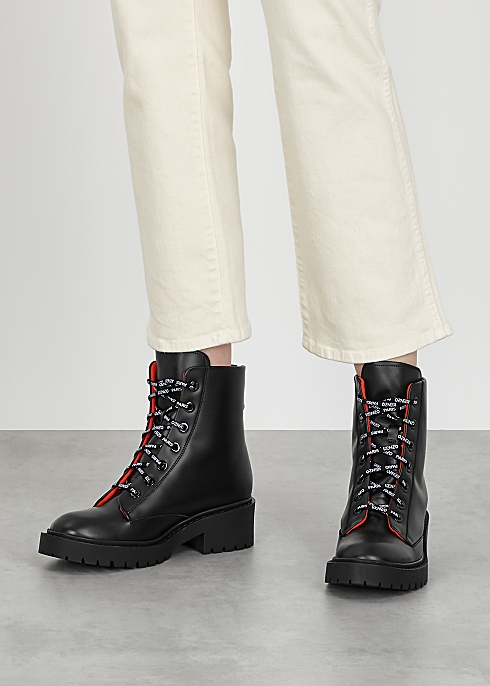 0bc9f13ddf Kenzo Pike black leather ankle boots - Harvey Nichols