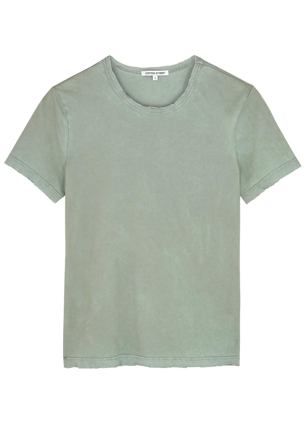 Standard sage cotton T-shirt - Cotton Citizen