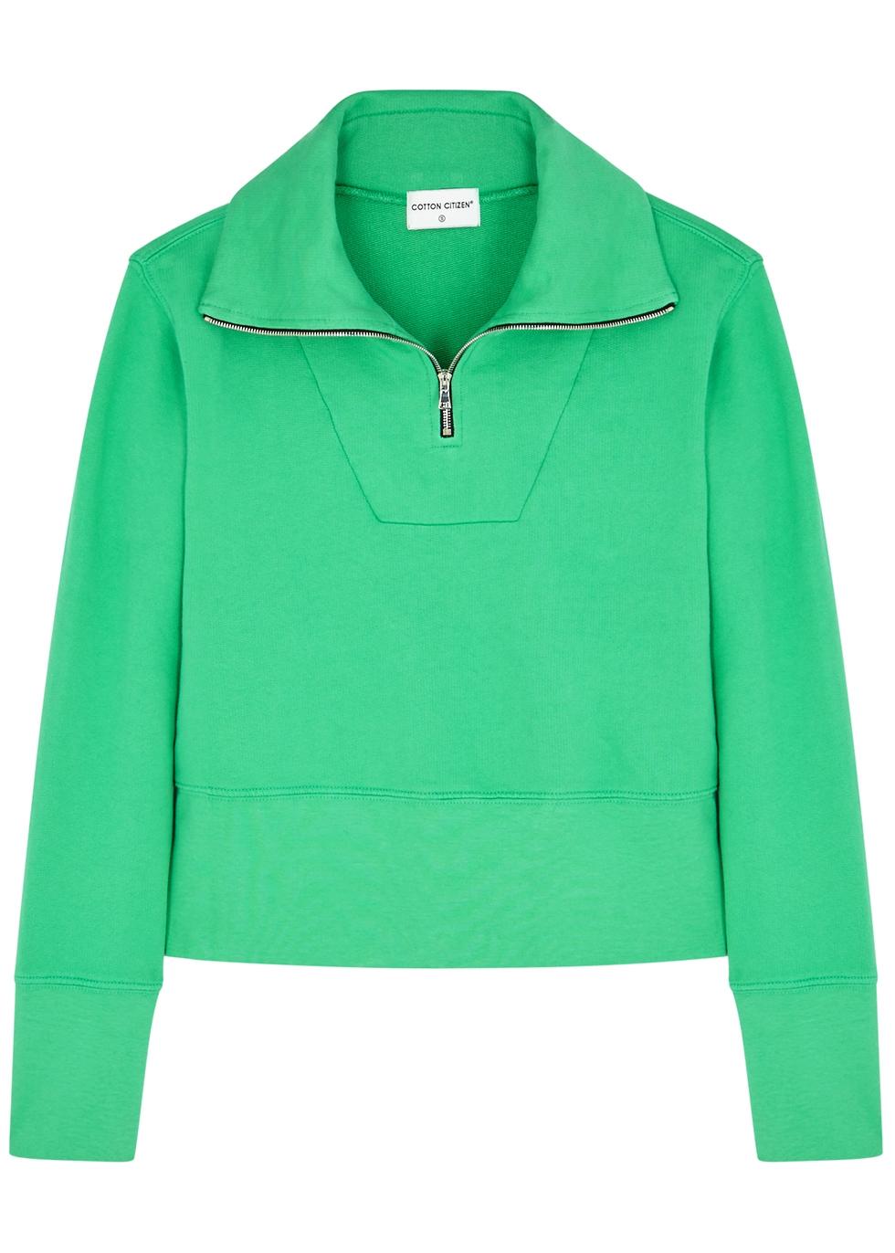 Milan green cotton sweatshirt - Cotton Citizen