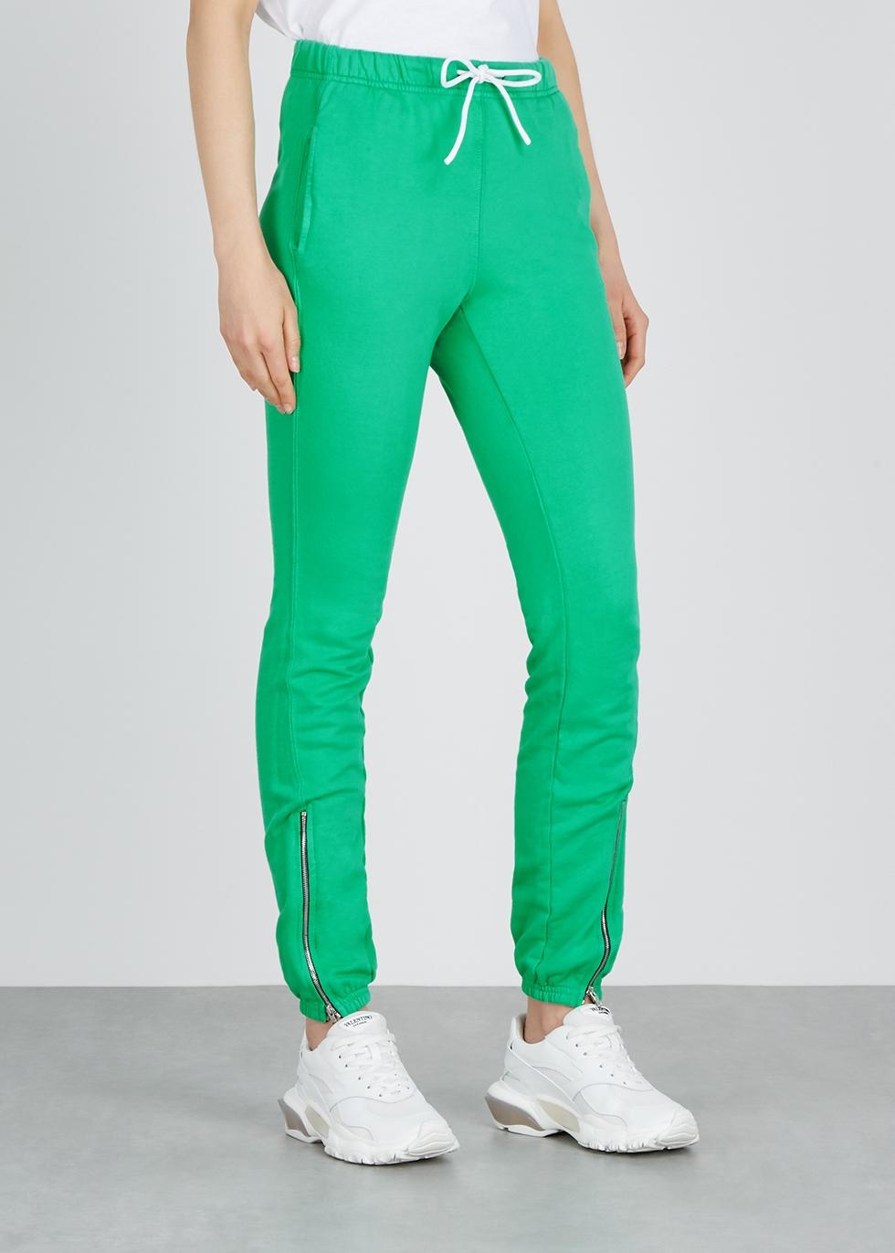 Milan green cotton-jersey sweatpants - Cotton Citizen