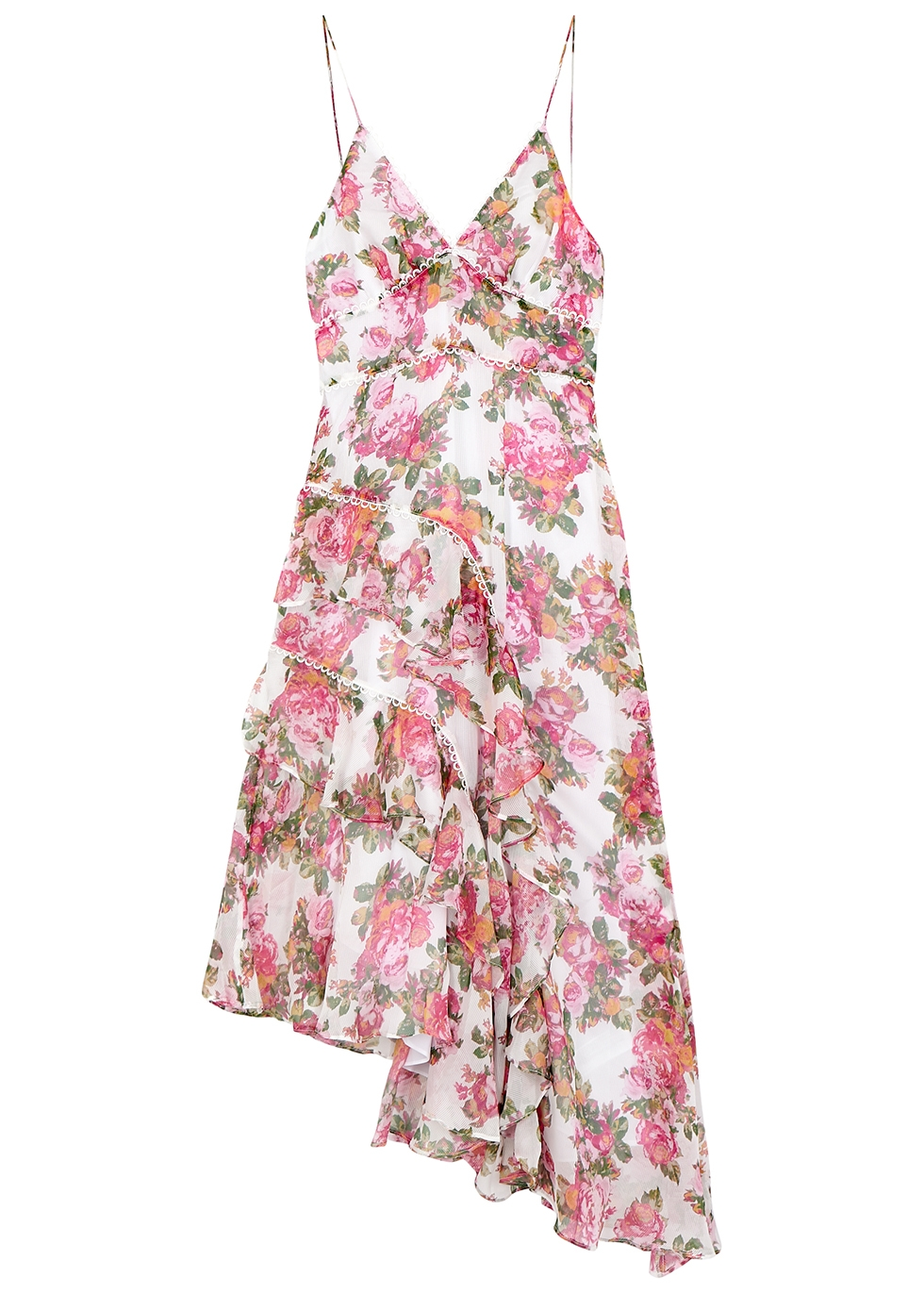 Oblivion floral georgette midi dress - KEEPSAKE