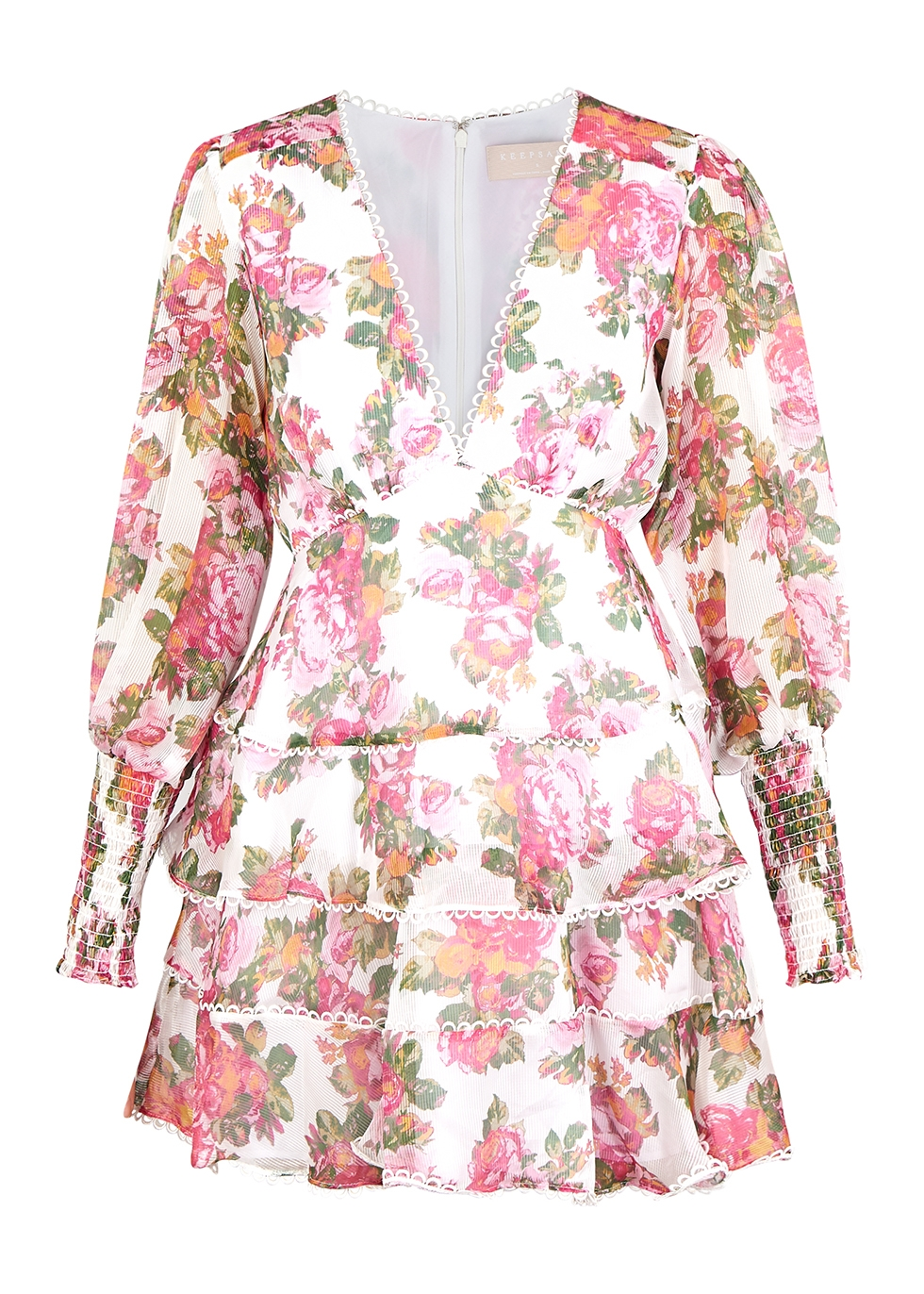 Oblivion floral georgette mini dress - KEEPSAKE