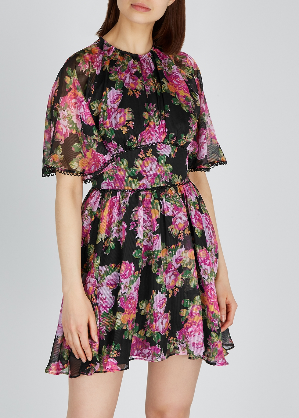 Oblivion floral georgette mini dress - KEEPSAKE
