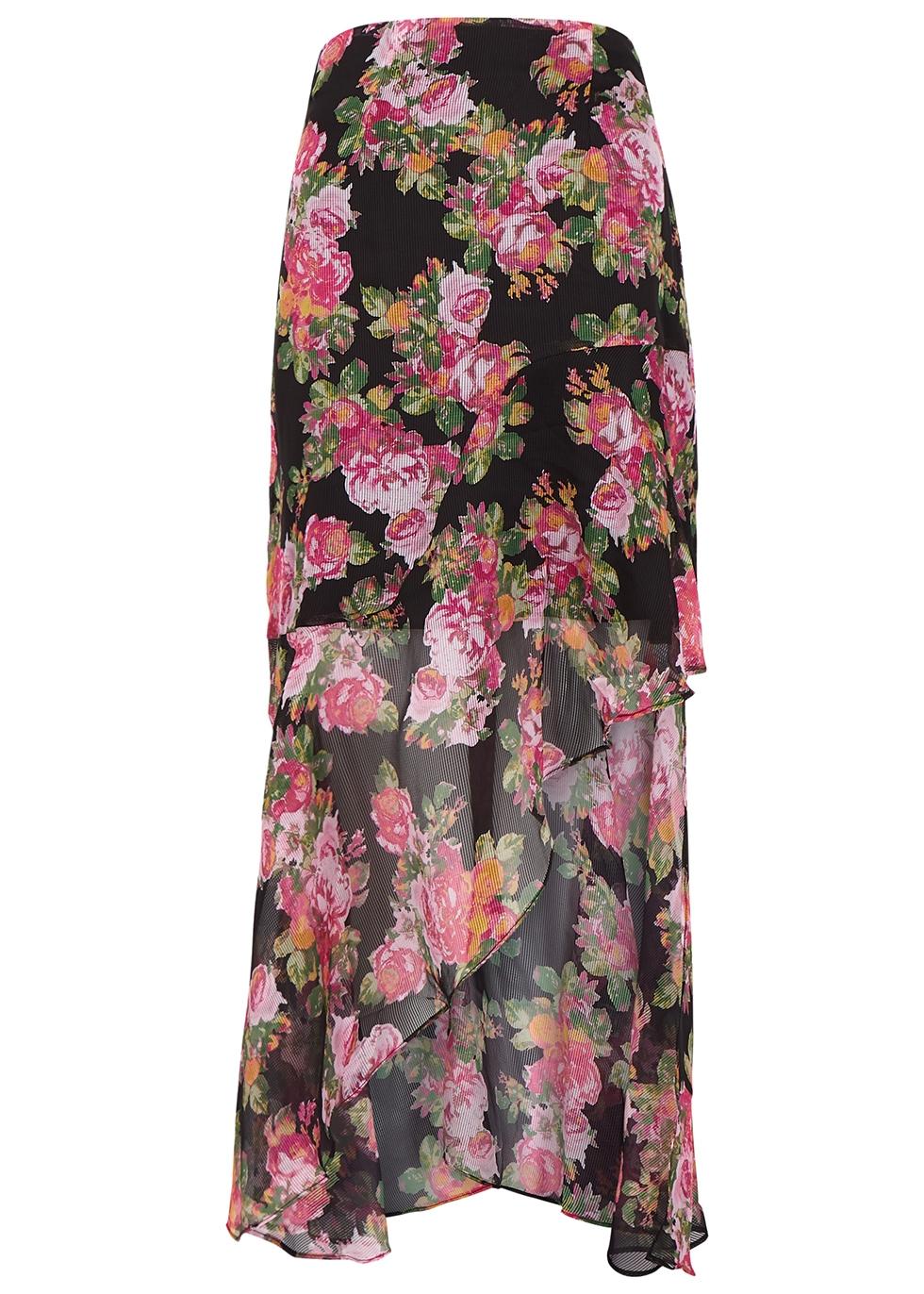 Oblivion floral georgette skirt - KEEPSAKE