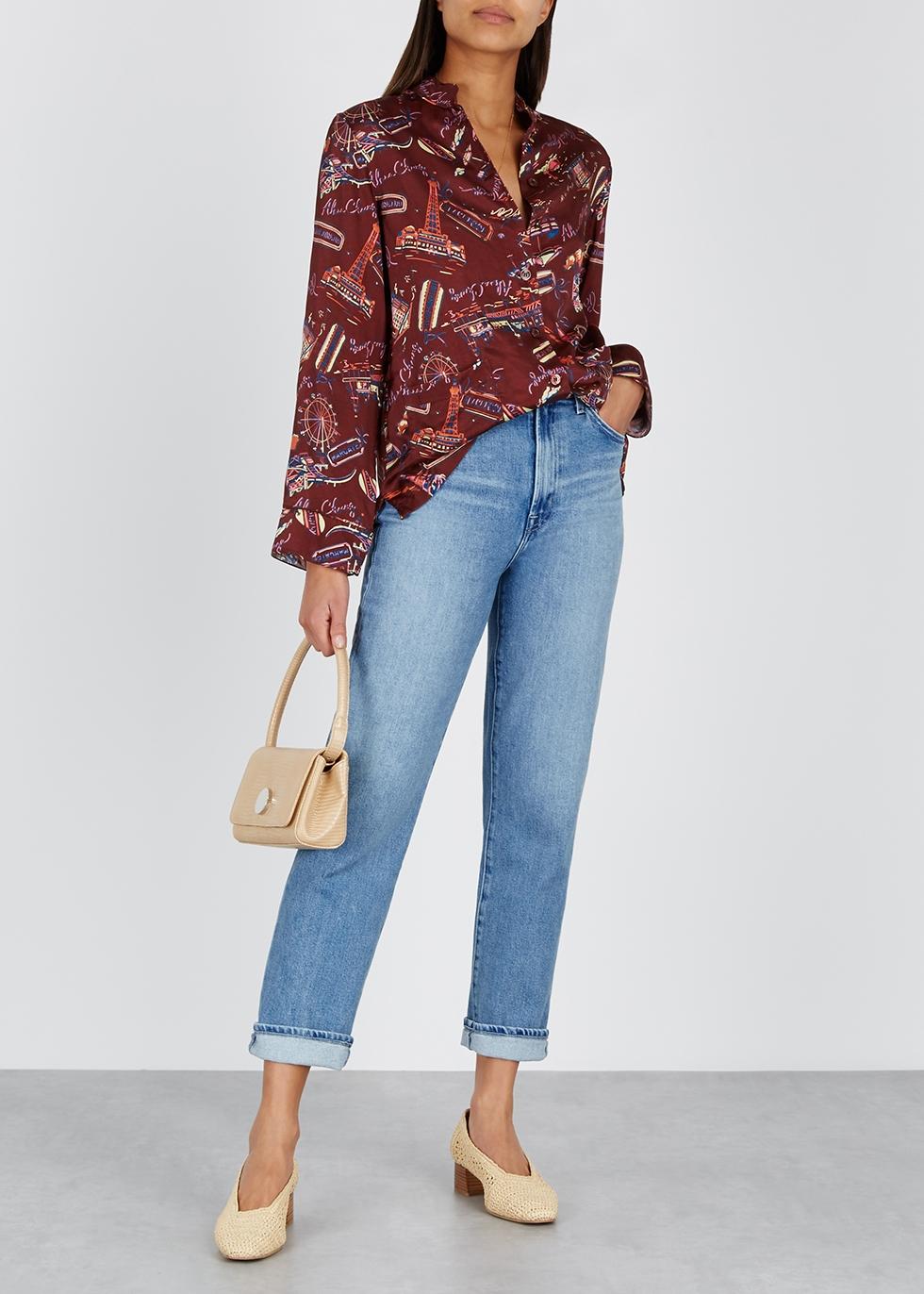 Jules blue straight-leg jeans - J Brand