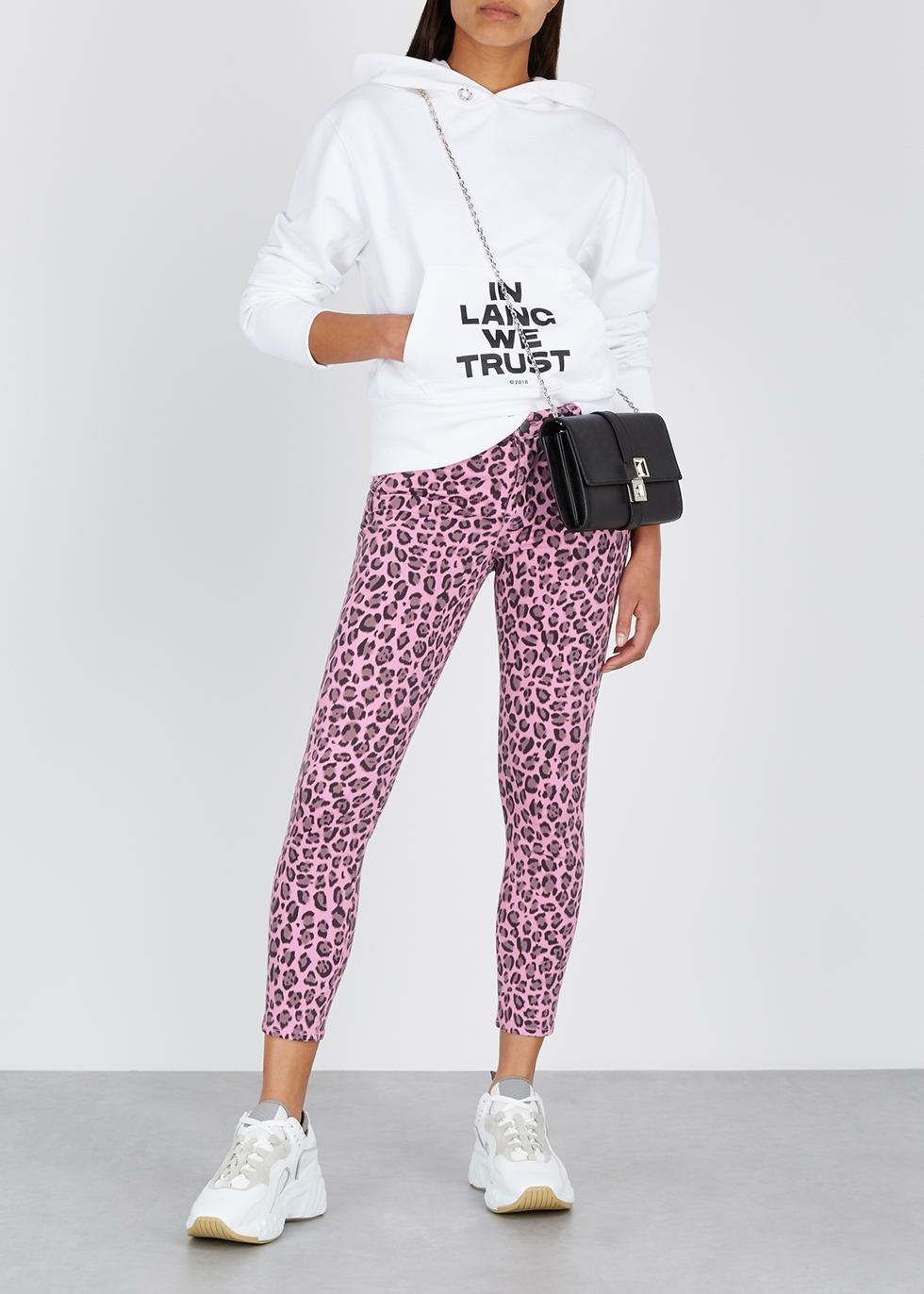 Leopard-print cropped skinny jeans - J Brand
