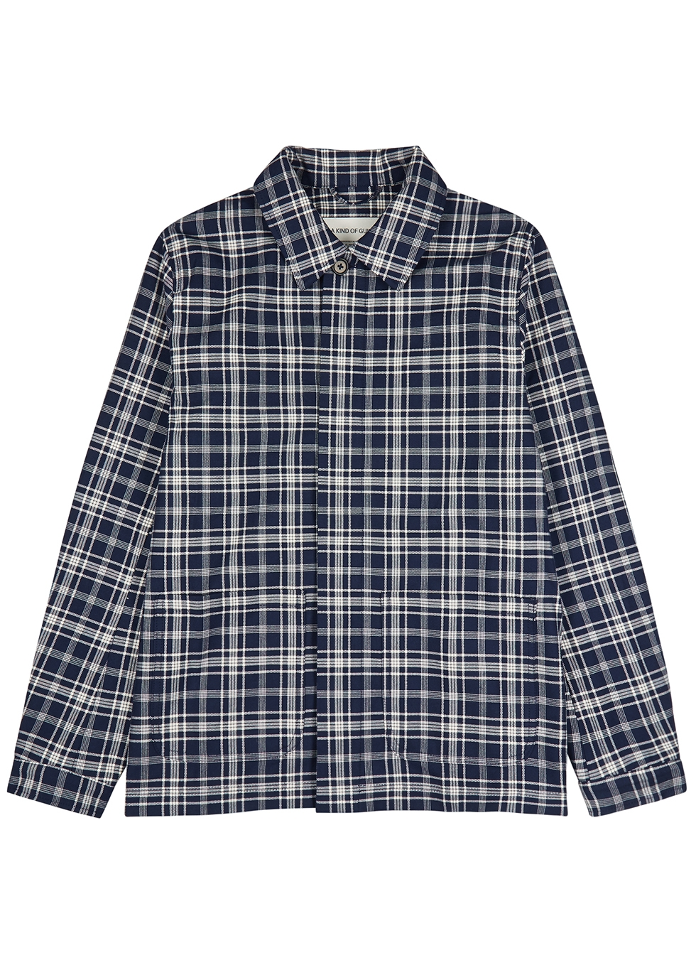 Jakarta navy checked cotton jacket - A Kind of Guise