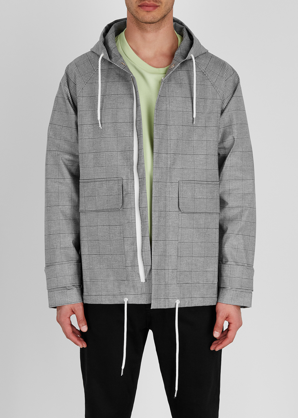 Grey cotton-blend raincoat - A Kind of Guise