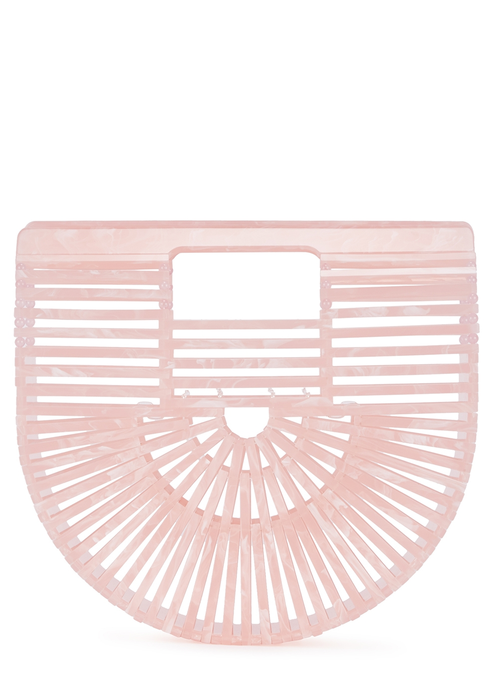 Ark mini powder-pink marbled clutch - Cult Gaia