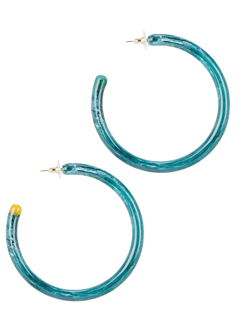 Geneva azure quartz-tone hoop earrings - Cult Gaia