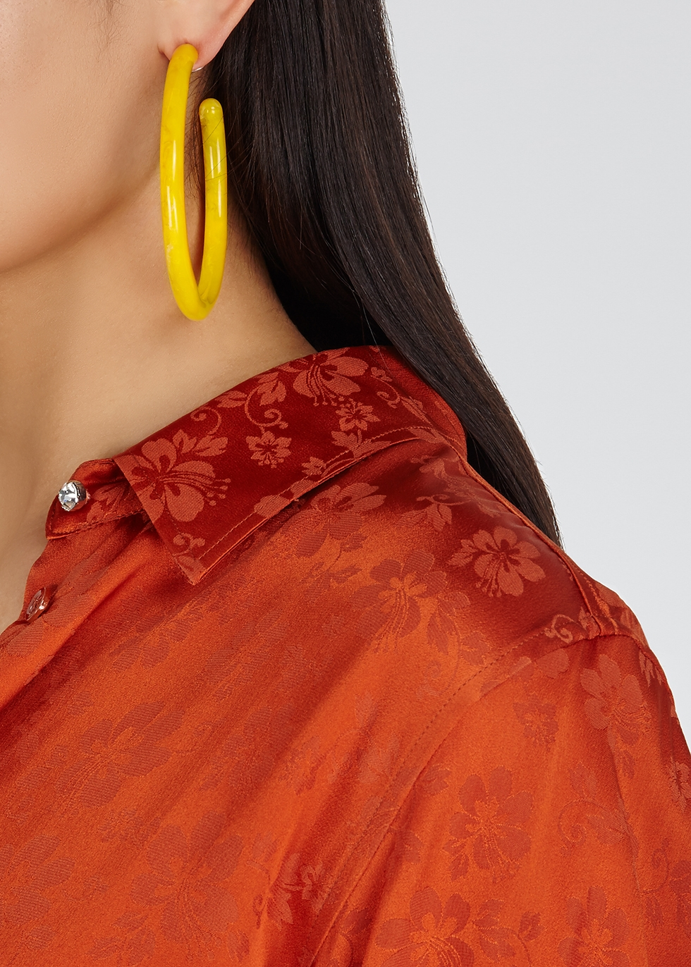 Geneva yellow quartz-tone hoop earrings - Cult Gaia