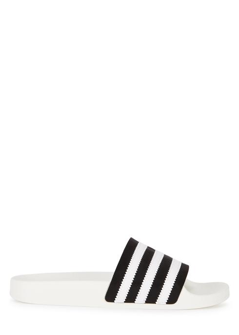 bf26602b5 adidas Originals Adilette monochrome suede sliders - Harvey Nichols
