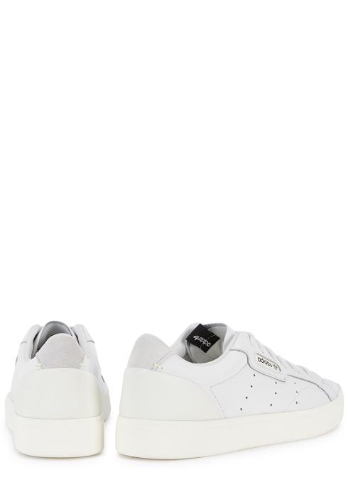 release date c4465 c027c X Sleek white leather trainers - adidas Originals