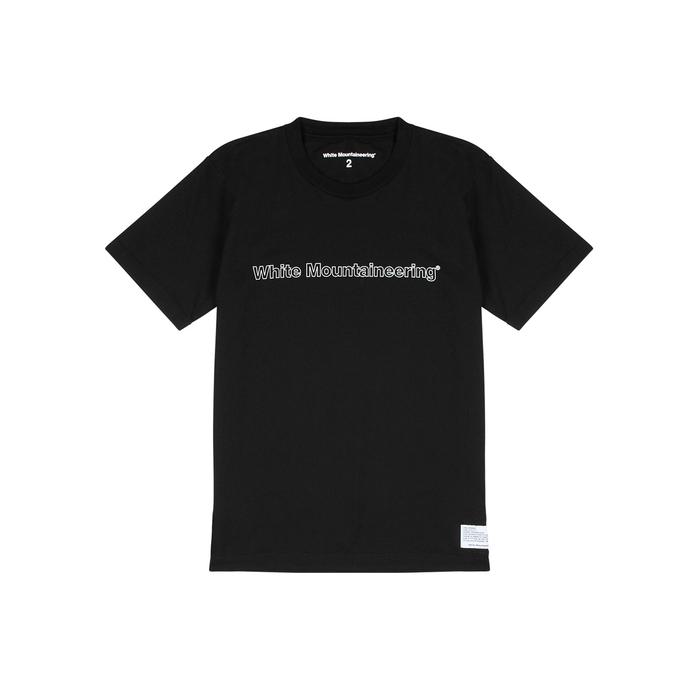 White Mountaineering T-shirts BLACK COTTON T-SHIRT