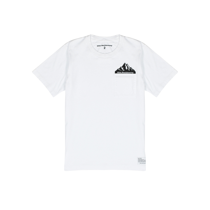 White Mountaineering T-shirts WHITE COTTON T-SHIRT
