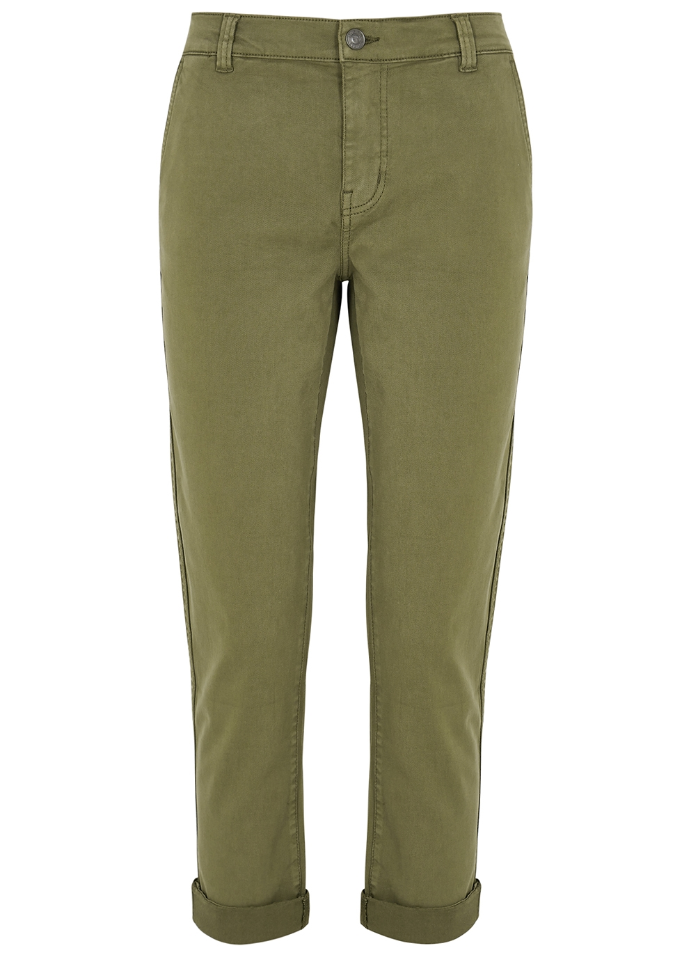 The Confidant army green trousers