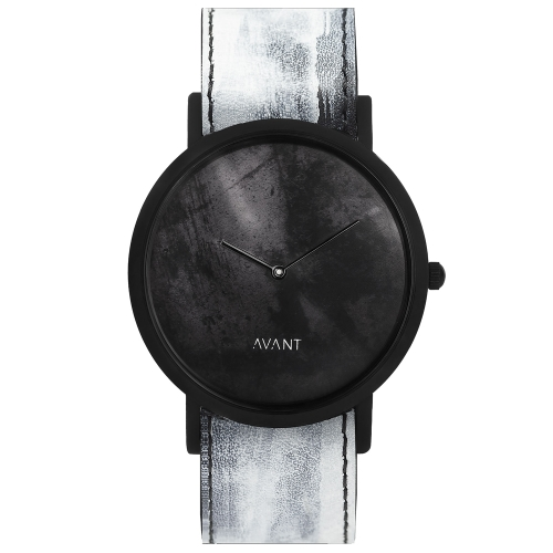 762cae6ce9a South Lane Unisex Watch In Calfskin Scandinavian Inspiration In Black