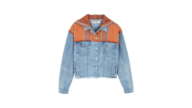 5ab40d70434 Free People Baja blue hooded denim jacket - Harvey Nichols