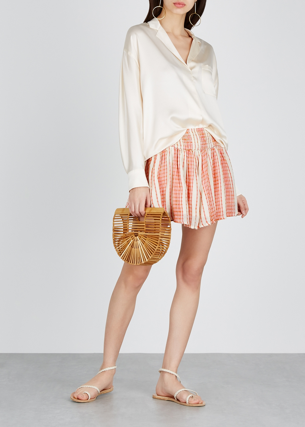 She Will Be Loved striped rayon shorts - Free People