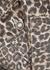 Cheetah leopard-print cropped denim jacket - Free People