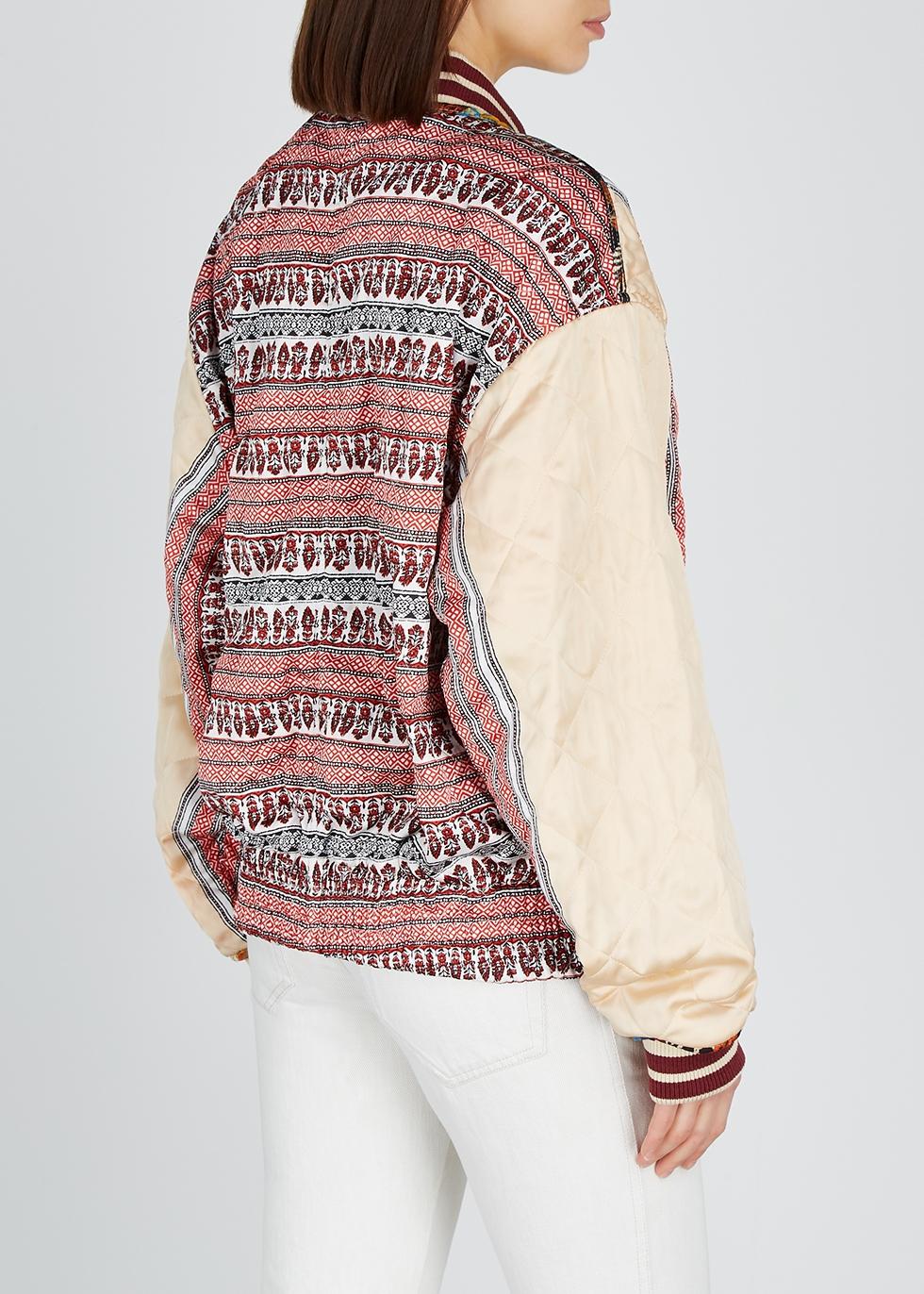 Pandora reversible satin bomber jacket - Free People