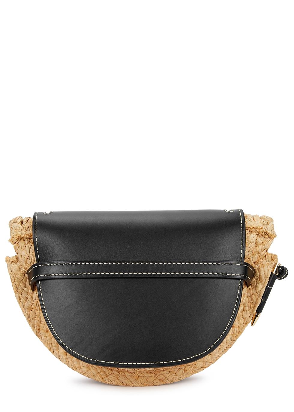 Gate small raffia saddle bag - Loewe