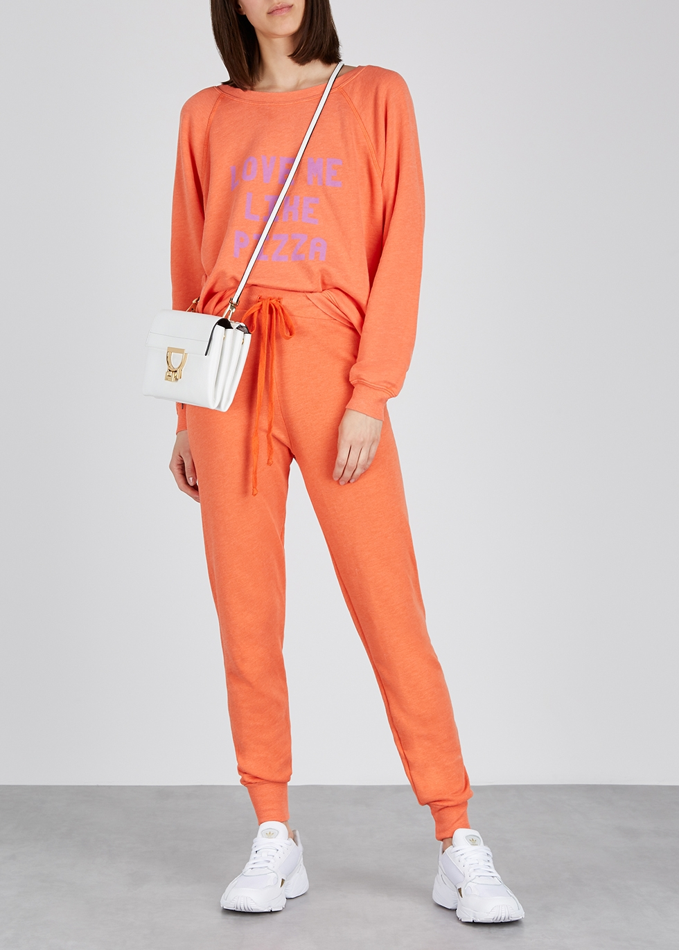 Sommers orange printed jersey sweatshirt - Wildfox