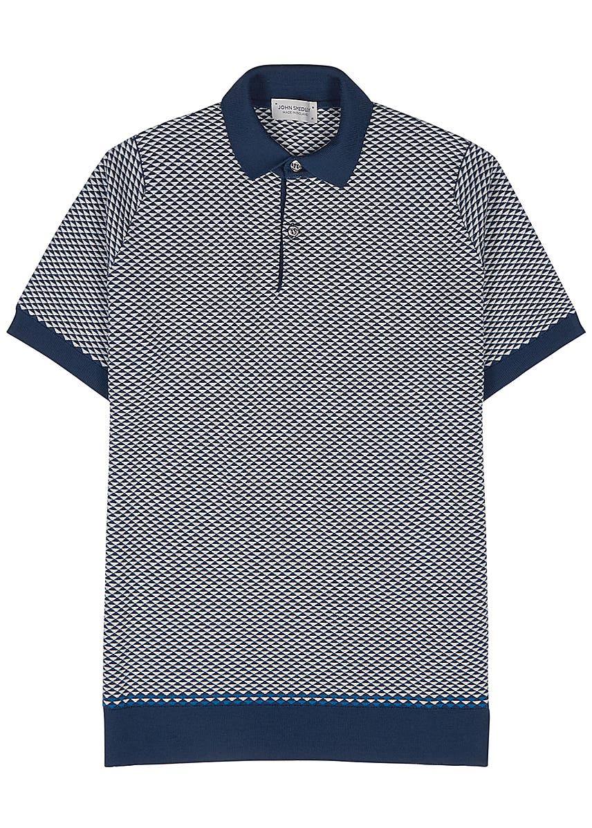 18e3a0159c86 Observe jacquard-intarsia knitted wool polo shirt ...