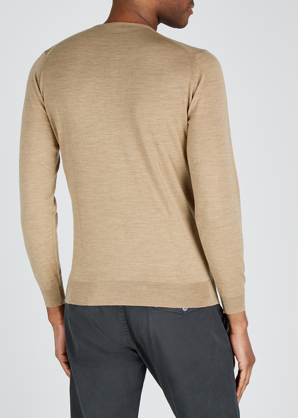 Sherman camel cashmere and wool-blend jumper - John Smedley