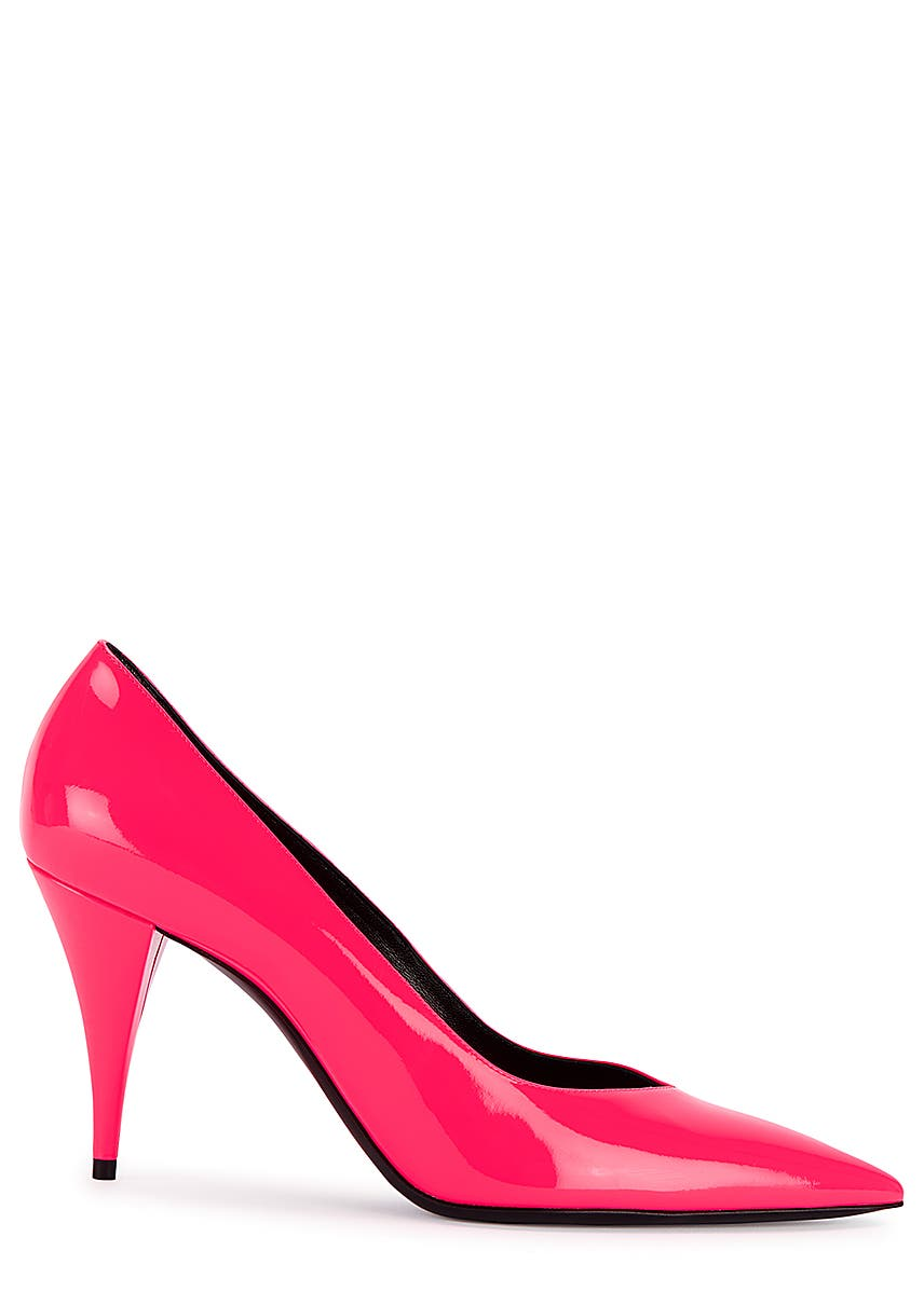 bc367b2603e Kiki 100 pink patent leather pumps ...