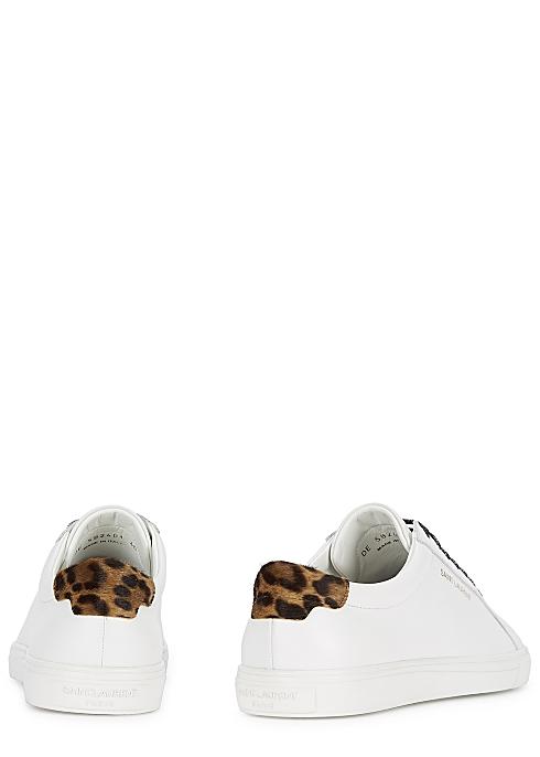 78cf2d9248e Saint Laurent Andy white leather sneakers - Harvey Nichols